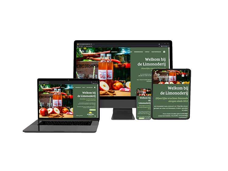 De Limonaderij vernieuwde Webshop WordPress WooCommerce